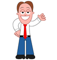 Cartoon businessman showing vector