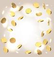 Money shower festive background vector