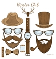 Vintage hipster club accessories vector