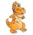 Cute orange cartoon dragon or dinosaur vector