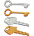 Key brass steel vector