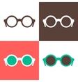 Hipster sunglasses set vector