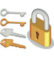 Key lock or padlock vector