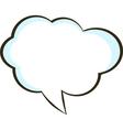 Comic book speech bubble symbol vector