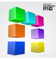 3d colorful cube arc abstract background template vector