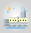 Flat design of italian building cityscape vector