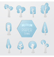 Set of paper tree icons vector