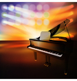 Abstract jazz background with grand piano on music vector