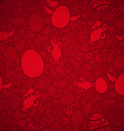 Easter seamless pattern red vector