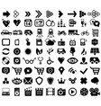 Big set of black universal web icons vector