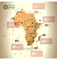 Africa map background  infographic design for vector