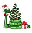 Christmas snake vector