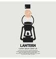 Hand holding a lantern vector