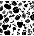 Berries pattern black vector