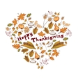 Autumn heart of leaves and berries vector
