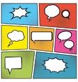 Blank speech bubbles vector