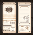 Old vintage style boarding pass wedding card vector