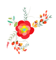 Background with flowers in retro style 28 vector