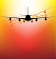 Aircraft on sunset vector