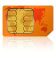 Global sim card vector