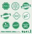 Fresh produce labels vector
