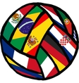 Football soccer ball made of flags vector