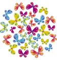 Summer butterflies vector