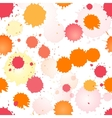 Watercolor rose and orange seamless pattern vector