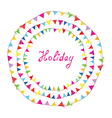 Bunting flags holiday frame for children vector