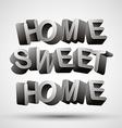 Home sweet home phrase vector