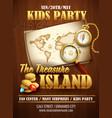 Treasure island party flyer template vector