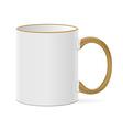 White coffee mug vector