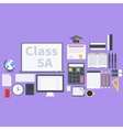 Flat school pack vector