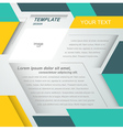 Mock-up flyer cover design geometric abstract vector