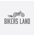 Vintage motorcycle with flames graphic design vector