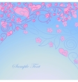 Blue background with hand drawing ornate vector
