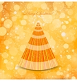 Christmas gold background with tree vector