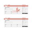 Plane tickets to prague vector