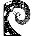 Spiral road vector