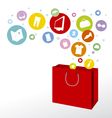 Shopping bag design vector