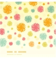 Abstract fluffy shapes horizontal seamless pattern vector