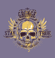 Grunge skull print 4 vector
