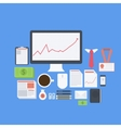 Flat design modern icons set of business vector
