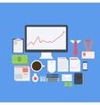 Flat design modern icons set of business vector
