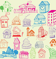 Design set child like drawn houses vector
