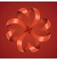 Pattern ribbons hearts vector