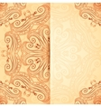 Ornate vintage template in indian mehndi style vector