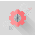 Flat gear wheel icons over white vector