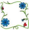 Cornflower frame vector
