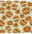Halloween pumpkins pattern cute seamless vector